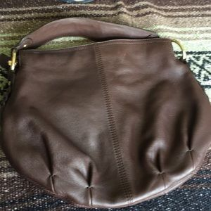 Rich Dark Brown Medium Hobo.